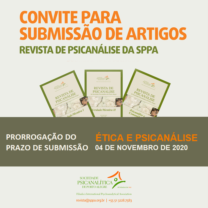 Novo Prazo de Submissão / New Deadline for Submitting - Revista de Psicanálise da SPPA